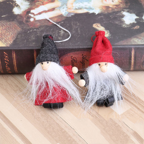 Handmade Santa Christmas Ornaments Adorable Hanging Dolls Toy