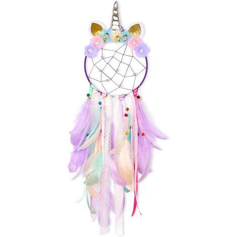 Handmade Unicorn Dream Catcher Dream Catcher for Girls Kids Bedroom Wall Decor