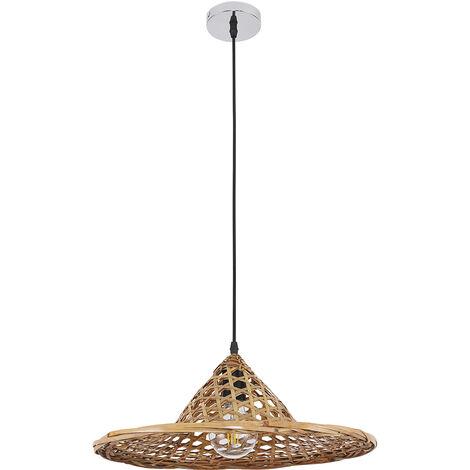 Handmade Wooden Pendant Lamp - Flora Natural wood