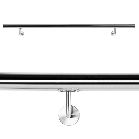 Handrail Set Wall Holder Handrail 150cm Holder Banister Handhold Stainless Steel V2A