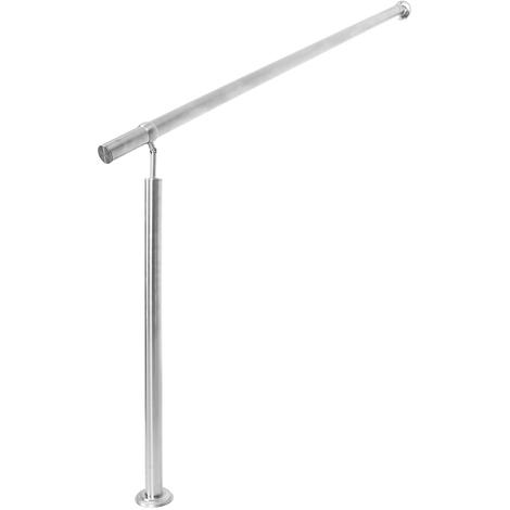 WilTec Handrail Stainless Steel 3 Cross Bars 180cm Balustrade Stair Staircase Rail