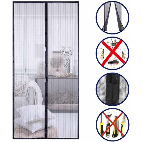 Hands Free Magnetic Screen Door Mesh Curtain Keeps Bugs Out Full Frame Magnets