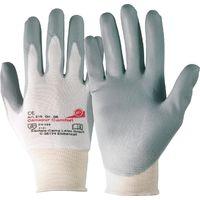Handschuh Camapur Comfort Gr. 6 nahtloses Trikot m. PU-Beschichtung weiß/grau
