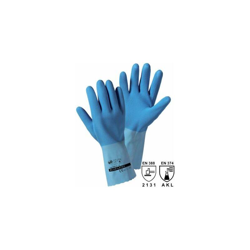 Image of Certeo - Handschuhe BLUE-LATEX, blau, VE 12 Paar, Größe 8 Schutz Handschuhe