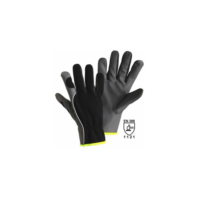 Image of Certeo - Handschuhe DIAMOND GRIP, grau / schwarz, VE 12 Paar, Größe 8 Handschuhe