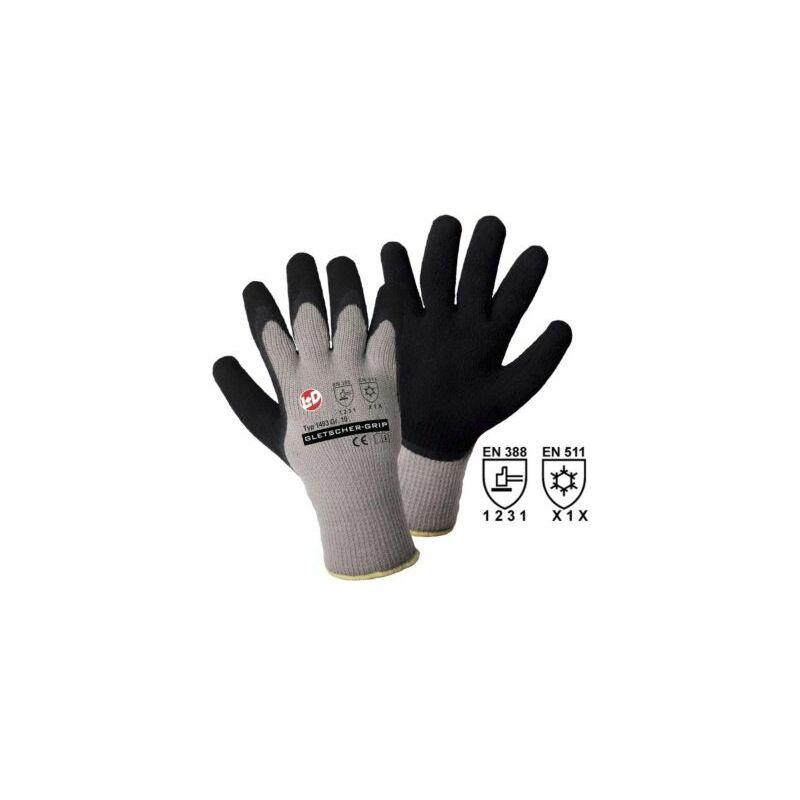 Image of Certeo - Handschuhe GLETSCHER-GRIP, grau / schwarz, VE 12 Paar, Größe 8 Schutz Handschuhe