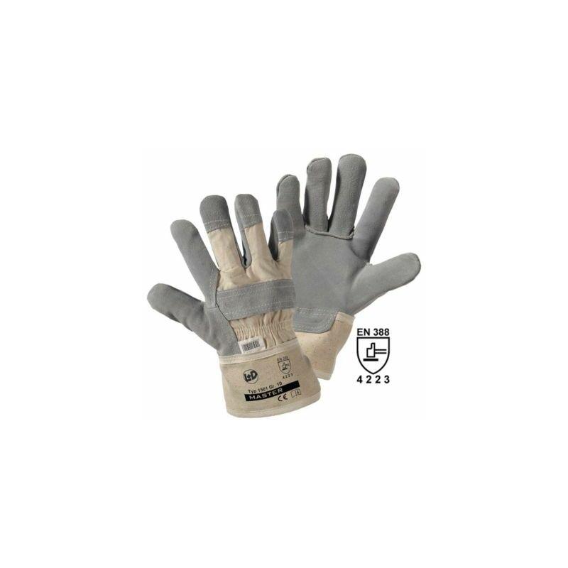 Image of Certeo - Handschuhe MASTER, Rindspaltleder, grau, VE 12 Paar, Größe 10 Handschuhe
