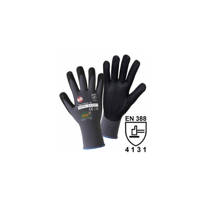 Image of Certeo - Handschuhe NON STICKY FOAM, grau / schwarz, VE 12 Paar, Größe 10 Handschuhe