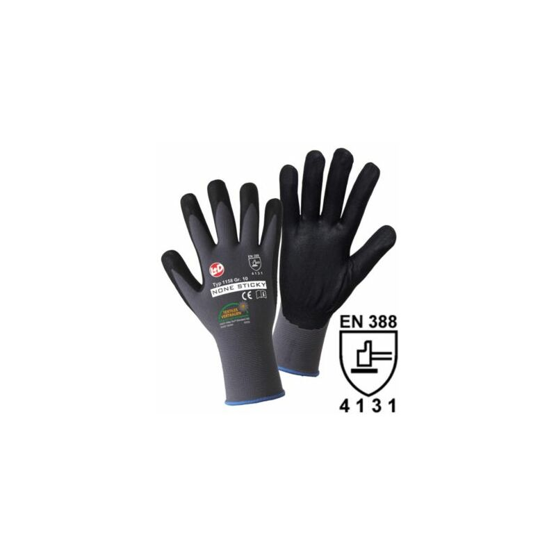 Image of Certeo - Handschuhe NON STICKY FOAM, grau / schwarz, VE 12 Paar, Größe 11 Handschuhe