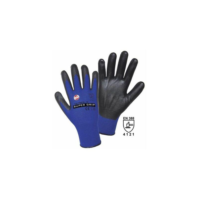 Image of Certeo - Handschuhe SUPER GRIP, blau / schwarz, VE 12 Paar, Größe 11 Handschuhe