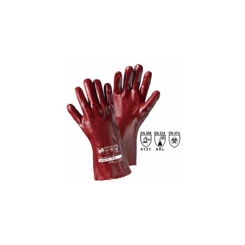 Image of Certeo - Handschuhe VINYL-27, rotbraun, VE 12 Paar, Länge 35 cm Handschuhe Schutz