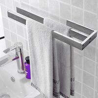 Handtuchhalter Handtuchstange Doppelhandtuchhalter Chrom Bad Handtuchständer