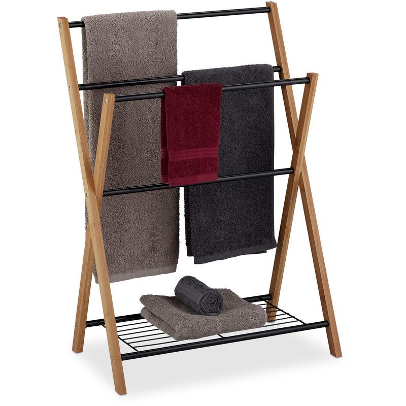 Handtuchhalter stehend 4 Handtuchstangen Badablage