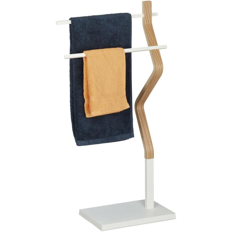 Handtuchhalter stehend Handtuchständer mit 2 Stangen für