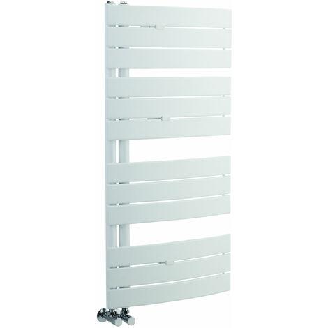 Handtuchheizkörper Gebogen Weiß 1080mm x 550mm 500W - Elgin