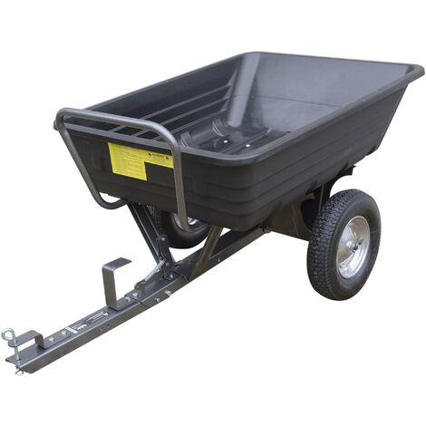 Handy TPDC Poly Body Towed Barrow Garden Dump Cart 295kg Capacity