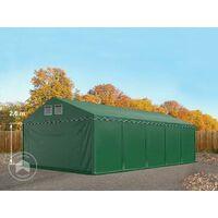 Hangar tente de stockage 5 x 10 m d'élevage de 2,60m de hauteur vert fonce épaisses de 500g/m² PVC imperméables