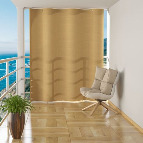 Hanging Balcony Screen Beige HDPE 140x230 cm