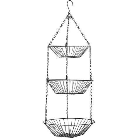 Hanging Baskets,3 Tier,Chrome