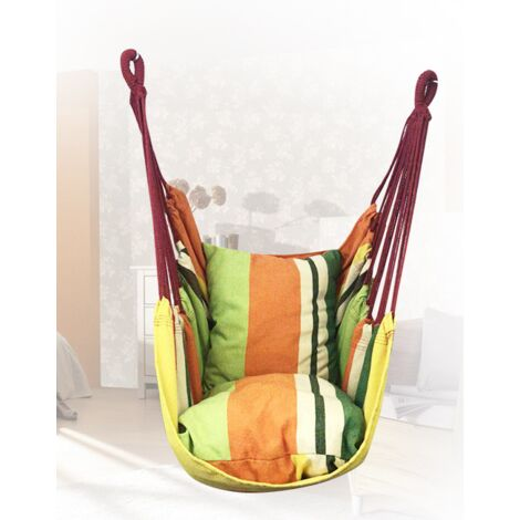 Hanging Chair, Canvas Swivel Chair, Hanging Chair with Pillow Swivel Chair, Adult Student Dorm Hanging Chair 130x100cm