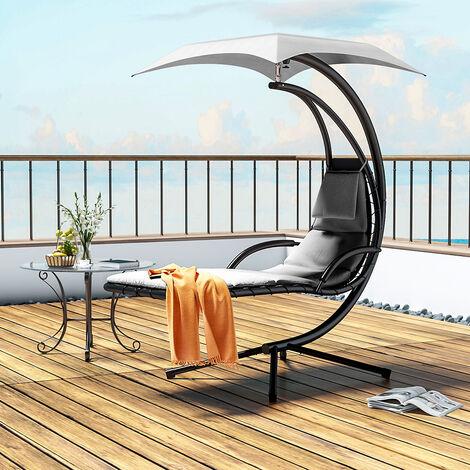 Hanging chair - garden swing seat, garden swing chair, swing chair - beige