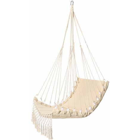 Hanging Chair Hammock - Max Load 150 KG - 100x55cm - White