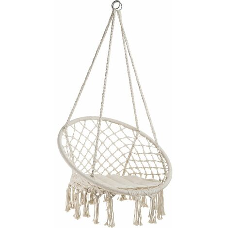 Hanging chair Jane - garden swing seat, hanging egg chair, garden swing chair - beige
