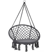 Hanging Chair Round Anthracite Grey Ø 61cm