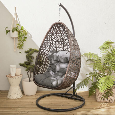 Hanging egg seat in rattan - Uovo