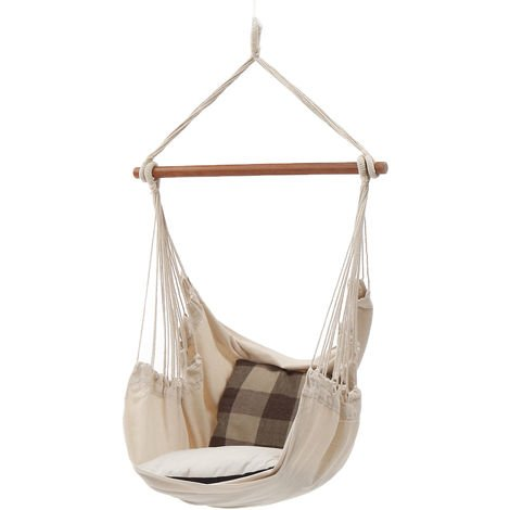 Hanging Hammock Chair Outdoor Indoor Garden Bedroom Swing Safety Hammock