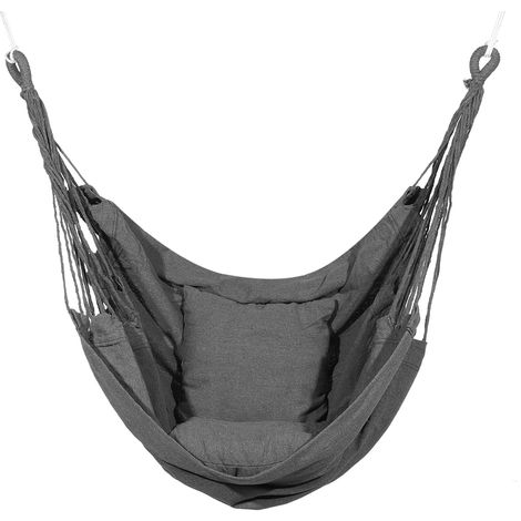 Hanging Hammock Chair with pillow 100x130cm Gray