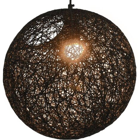 Hanging Lamp Black Sphere 35 cm E27