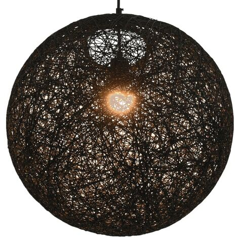 Hanging Lamp Black Sphere 45 cm E27