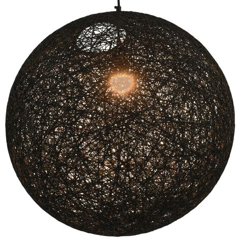 Hanging Lamp Black Sphere 55 cm E27