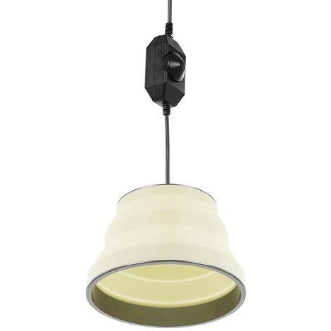 Hanging LED lamp foldable silicone white Ø15cm