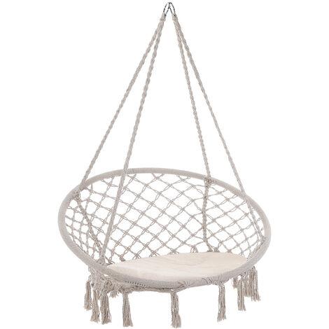 Hanging Swing Chair Hammock Garden Camping 150kg Basket Outdoor Patio Relaxing