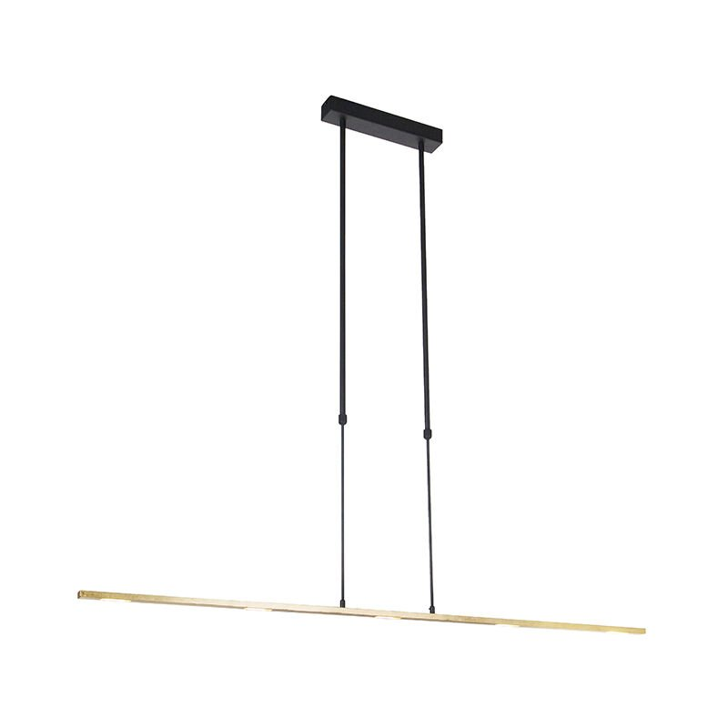 Hängelampe schwarz mit Gold inkl. LED dimmbar - Fett - QAZQA