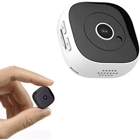 Hanguang Camera Espion Mini Caméra De Surveillance H9 Petit HD Mat avec Vision Nocturne,Détection de Mouvement Caméra Intelligente WiFi Sport DV(Clip Arrière avec Aimant) (Noir)