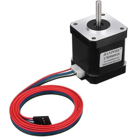 HANPOSE 17HS8401-S 48mm Nema 17 moteur pas à pas 42 moteur 42BYGH 1.8A 52N.cm 4 dérivations pour imprimante 3D CNC Laser