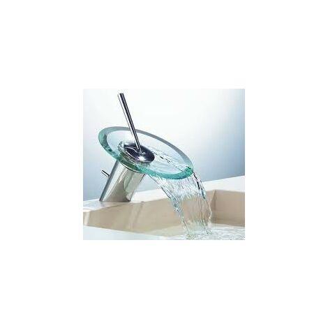 "main image of ""Hansa Hansamurano Mitigeur de lavabo (mitigeur de lavabo) avec vidage, chromé, verre clair - 5609210178"""