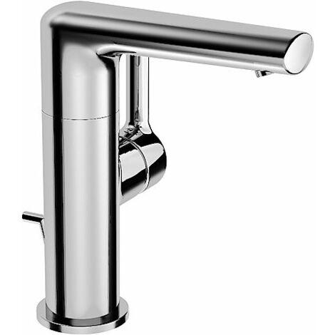 Hansa Hansaronda Mezclador monomando para lavabo 5526, con desagüe, accionamiento lateral mediante palanca, cromado - 55262203
