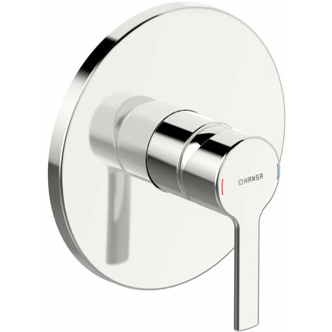 Hansa Hansaronda unité fonctionnelle avec set décoratif mitigeur douche une main, rosace ronde avec 170 mm - 83869573