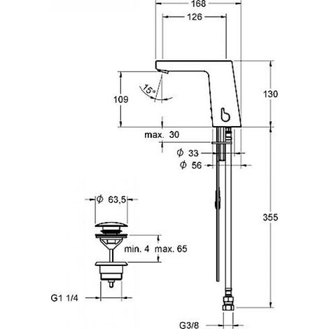 Hansa HANSASTELA Mezclador electrónico para lavabo, DN 15, cromado - 57122201
