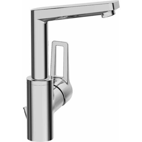 Hansa Hansatwist, mitigeur lavabo monotrou, robinet monotrou, saillie : 130 mm, avec raccord de vidange, chromé - 09542205
