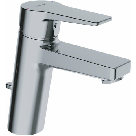 Hansa Hansatwist, mitigeur monocommande de lavabo, monotrou, saillie 123 mm, avec bonde de vidange, raccordement par flexibles de pression, chromé - 09012283