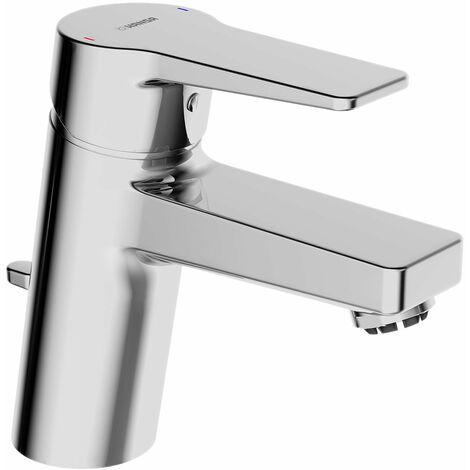 Hansa Hansatwist, mitigeur monocommande de lavabo, pour chauffe-eau ouverts, saillie 121mm, avec bonde de vidange, raccordement par tubes cuivre, chromé - 09131183