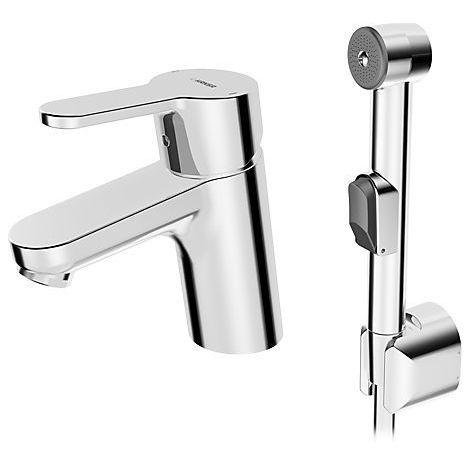 Hansa Mitigeur monocommande de lavabo avec douchette (49462203)