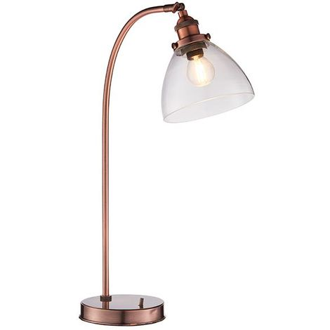 Hansen Task Table Lamp 40W SW - Aged Copper Base