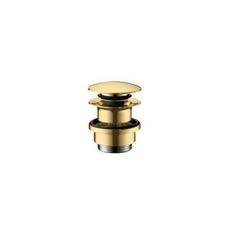 Hansgrohe Ablaufventil push-open DN32 Polished Gold Optic mit Überlaufloch, 50100990