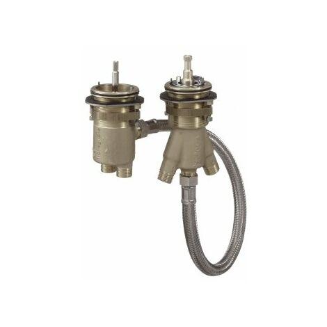 Hansgrohe AXOR basic body para grifería de borde de baño de 2 orificios con termostato - 15486180
